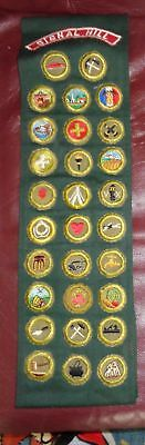 Boy Scout Explorer Merit Badge sash w/29 MB's