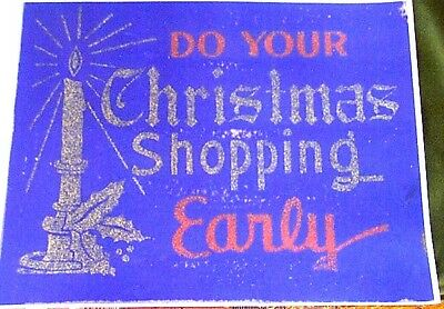 """""""do Your Christmas Shopping Early"""" Vintage Sign Reprint"""