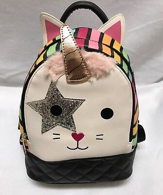 d7af1f0658 Betsey Johnson Luv LBJAZZY Unicorn Kitty Cat Mini Backpack Brand New!