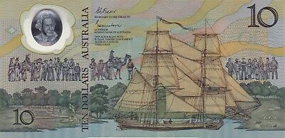 1988 Australia Johnston/fraser Commemorative Issue $10 Polymer Banknote