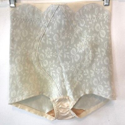 6bb66da819d03 Vintage JCPenney Beige Rubber Girdle Front Panel Panty size M made in USA AC