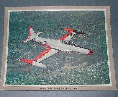 LOCKHEED TV-2 SEASTAR US NAVY USMC VT- PROMOTIONAL Aviation Art Photo Print
