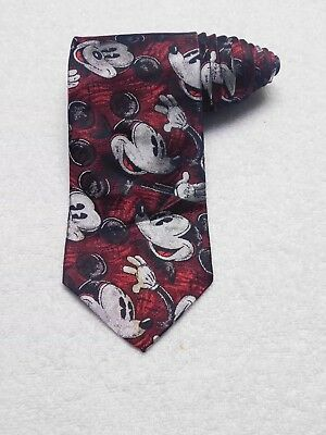 The Disney Catalog Red Mickey Mouse Necktie Tie