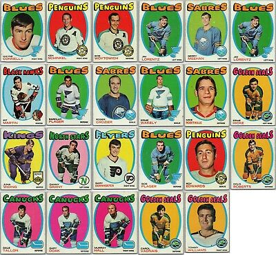 1971-72 TOPPS LOT OF 23 Vintage Hockey Cards RC Set Break Great Condition Rare