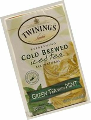 Twinings Cold Brewed Iced Tea Green With Mint 20 Bags
