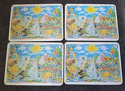 Set of 4 Ken Done 1983 Placemats
