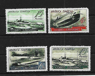 Spain Submarine Service - All Are Reprints - Not Genuine.