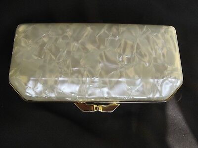 VINTAGE LUCITE SPECTACLE CASE PURSE BRILLENETUI 50er 60er
