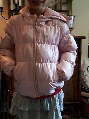 Pink Girls Down Feather Jacket/ Coat