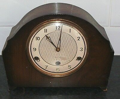 Antique 3 Hole Chiming Mantle Clock By Bentima Not Working For Spares Or Repair