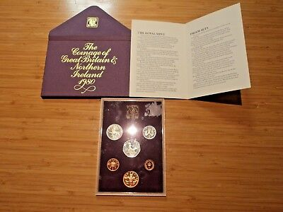 New Pence New Penny Elizabeth R 1980 Collection Vintage Uncirculated