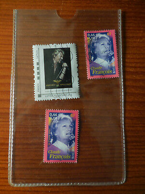 Timbres Poste Johnny Hallyday / Claude Francois