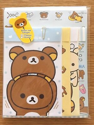 Rilakkuma Letter writing set 2018 Four types of design NEW SAN-X KAWAII JAPAN