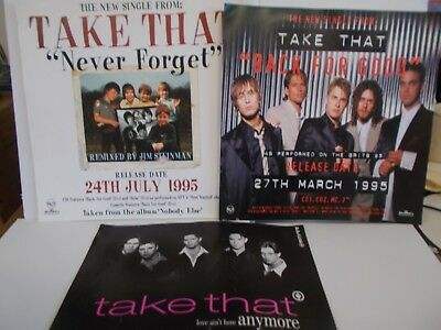 Take That In Store Promo Cards For Never Forget/back For Good/love Ain't Here