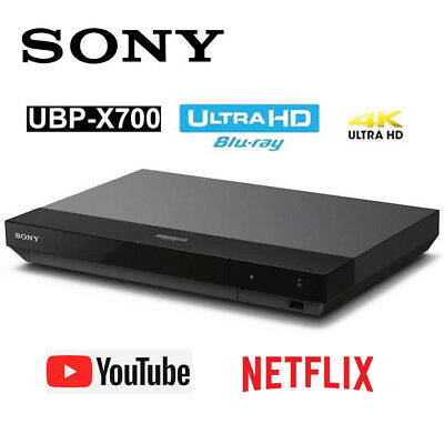 SONY UBP-X700  4K HDR Ultra HD Blu-ray DVD Player NETFLIX YouTube Great Sound