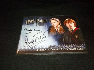 Harry Potter Half Blood Prince Cave/Grint (Lavender/Weasley) Dual Auto Card