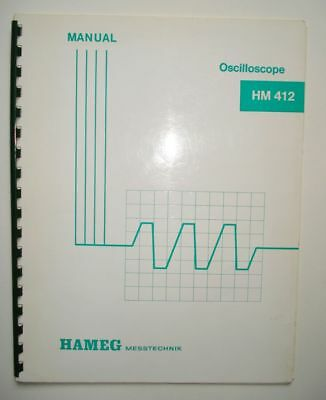 Hameg HM 412 Oscilloscope Service Manual