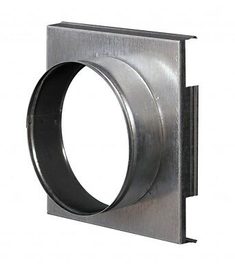 Metal Wall Plate 162mm x 162mm with 100mm Duct Hose / Pipe Flange Top Plate PMK1