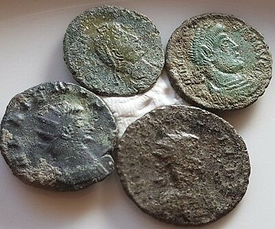Perfect Lot Of 4 Ancient Roman Bronze Coins Claudius Prob Valens