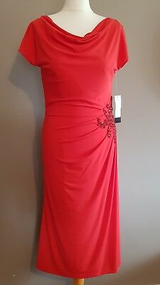 Coral/red Veni Infantino Mother Of The Bride/special Occasion Dress Size: 8