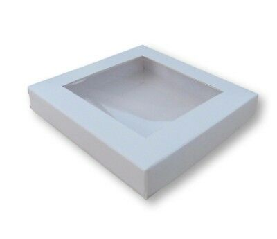 "137 x  BN White Window Boxes 4"" x 4"" for gifts, chocolates, jewellery etc"