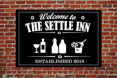 Personalised Pub Beer Bar Sign, Landlord Sign, Home Bar Sign, Man Cave Pub Sign