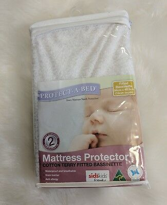 Brand New Baby Bassinet Fitted Mattress Protector Waterproof Terry Cloth