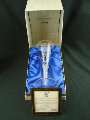 Stunning Presentation Boxed City Of York Goblet By Stuart Crystal Ltd Ed 280/500