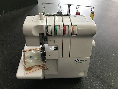 Overlocker Sewing Machine, Delta OL-1000 great condition w/ box and manual