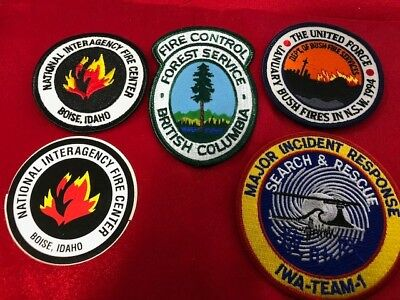 Fire Brigade Collectables - Fire Service Patches x 5