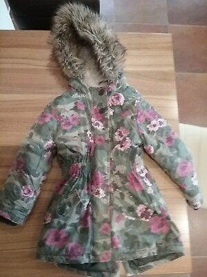 GIRL'S  AUTUMN/WINTER COAT FROM Mantaray AGED 7-8 YEARS