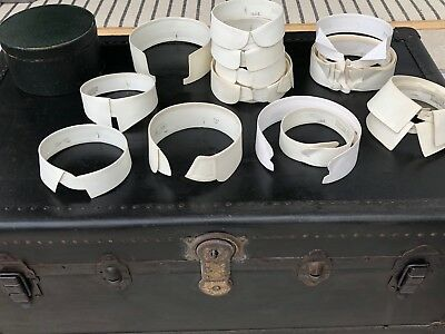 Collection of 20 Vintage Stiff White Shirt Collars Various Sizes and styles