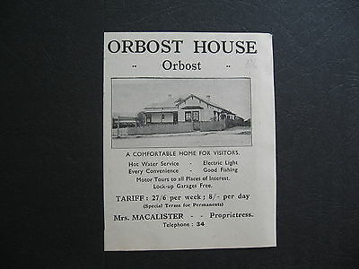 Orbost House  Mrs Macalister