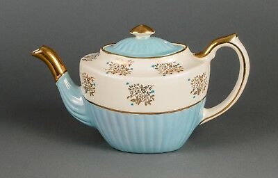 Gibson of England luster blue and gold trimmed teapot