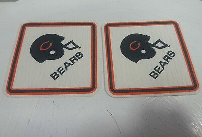 Advertising Chicago Bears Patch Paper Coaster Football Advertising Collectibles