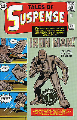 TALES OF SUSPENSE #39 (IRON MAN 1) GOLD-STAMP-VARIANT limited GERMAN REPRINT