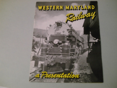 Western Maryland Railway A Presentation A Pictorial Brochure Of Capabilities 8 P