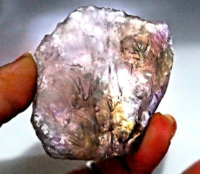 479 Ct 100% Natural Purple & Yellow Ametrine Rough Untreated Bolivia Facet Gem