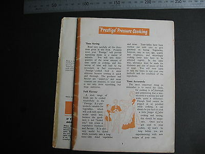 Prestige Preasue Cooker Instructions & Recipe Booklet 48 pages