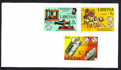 Liberia 1976 Telephone Centenary Set & Minature Sheet First Day Covers