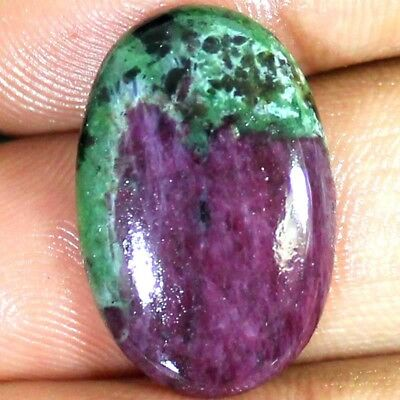~17x26x5 mm~ 100% Natural Superb RUBY ZOISITE Oval Cabochon 24.00 Cts Gemstone