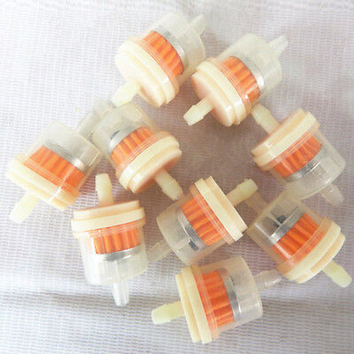 """NEW 10pcs/lot Motorcycle Scooter Hose Inline Gas Fuel Gasoline Filter 1/4"""" 6-7mm"""