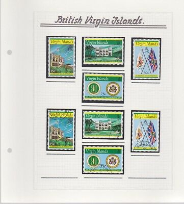 British VIRGIN Islands collection 1976-78 MINT & used on 11 album pages