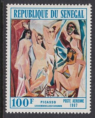 Senegal 1967 Air Picasso artist 100F complete mint issue sg357