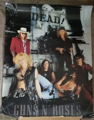Vintage Guns N Roses Use Your Illusion Don't Cry Poster Axl Rose Rare