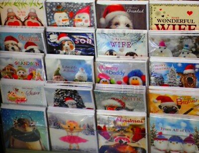 30p! INCREDIBLE OFFER! 300 SUPER CHRISTMAS CARDS-JUST ALL SIZES 'TRACKS' WRAPPED