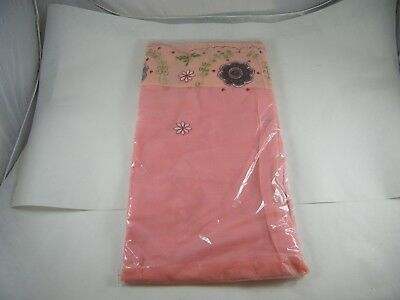 Beautiful Embroidered Polyester Saree Pink With Flowers