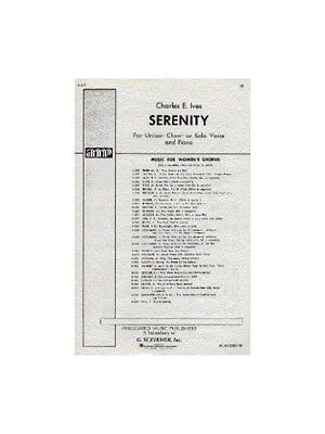 Charles Ives Serenity Learn to Play Unison Voice Piano SHEET MUSIC BOOK