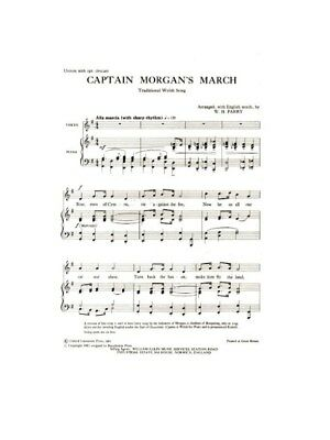 Captain Morgan's March Learn to Play Unison Voice Piano SHEET MUSIC BOOK