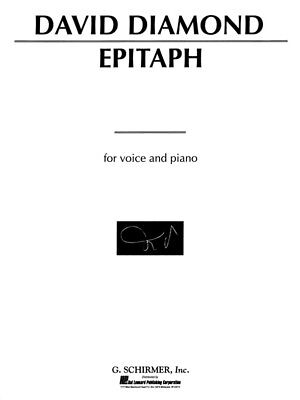 David Diamond Epitaph Learn to Play Present Voice Piano SHEET MUSIC BOOK